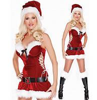 Новогодний костюм Мисс Санта 701