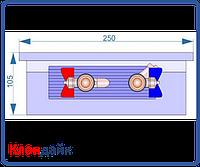 Внутрипольный конвектор Radopol KV 10 300*1750, фото 1