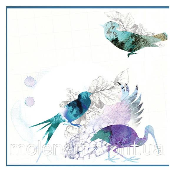 Рисунок для интерьерной печати.  Птицы с наложением.