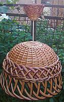 Люстра плетеная из лозы