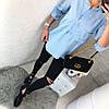 Женская модная рубашка с декоративными пуговицами и карманами