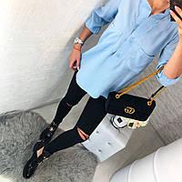 Женская модная рубашка с декоративными пуговицами и карманами, фото 1