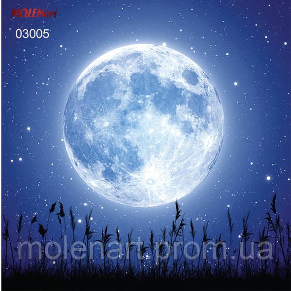 Рисунок для интерьерной печати. Луна ночь