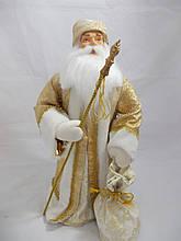 Дед Мороз под елочку, золотой. Высота 60 см.
