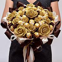 Большой букет из конфет Ferrero Rocher № 76 (на свадьбу, для руководителя, на годовщину) Солидный подарок