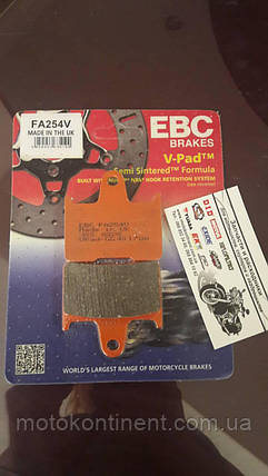 Мото колодки тормозные полусинтетика EBC FA254 HONDA CB,KAWASAKI EX / ZX,SUZUKI GSX-R, фото 2