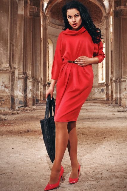 2b7a052d3c1 Женская одежда больших размеров 48+. Женские платья средней длины большого  размера 48+ (баталы)