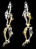 """Оригинальные серьги """"Рыбки"""" с хромдиопсидом   от стуЦветикидии LadyStyle.Biz, фото 1"""