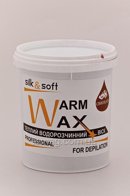 Silk&Soft WARM WAX Теплый воск Шоколад, 500 гр
