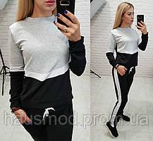 Новинка! комбинированный женский костюм двух нить черный 42-44 44-46 46- 1ecede4184c