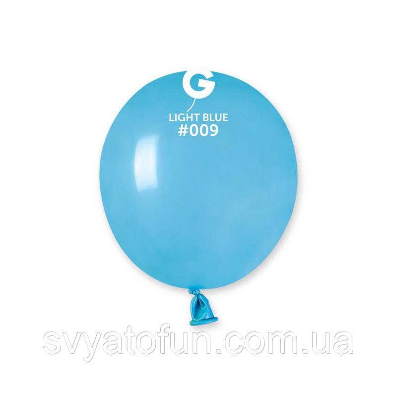 """Латексные воздушные шарики 3"""" пастель 09 голубой Gemar"""