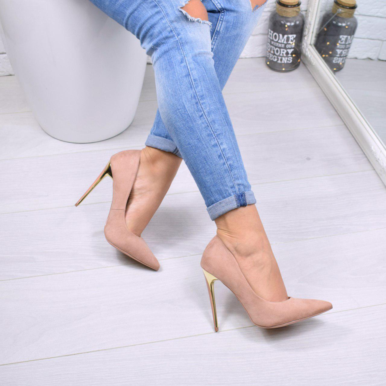 e19e445b84bb Туфли женские на каблуке пудровые