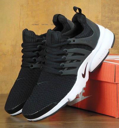 Мужские кроссовки в стиле Nike Air Presto Black/White, фото 2
