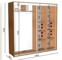 Шкафы-купе высота 2100, глубина 450 ,ширина на выбор