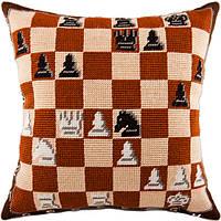 V-66 Шахматы. Подушка. Чарівниця. Набор для вышивания нитками на канве с нанесенным рисунком