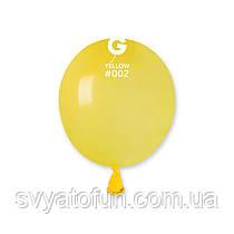 """Латексні повітряні кульки 3"""" пастель 02 жовтий, Gemar"""