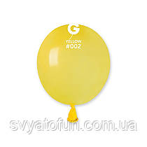 """Латексные воздушные шарики 3"""" пастель 02 желтый Gemar"""