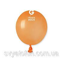 """Латексные воздушные шарики 3"""" пастель 04 оранжевый, Gemar"""