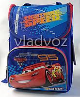 Школьный каркасный рюкзак для мальчиков Тачки Cars синий 1 вересня