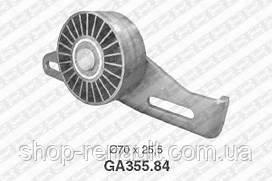 Ролик ремня генератора натяжной ГУР (с планкой) Logan/MCV/Sandero/Clio/Megane SNR GA355.84