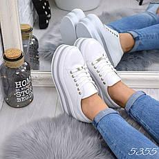 """Туфли женские на платформе белые """"Why Not"""" НАТУРАЛЬНАЯ КОЖА, повседневная, удобная обувь, фото 2"""