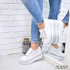 """Туфли женские на платформе белые """"Why Not"""" НАТУРАЛЬНАЯ КОЖА, повседневная, удобная обувь, фото 3"""