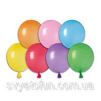 """Латексні повітряні кульки 3"""" пастель 80 асорті Gemar"""