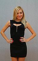 Платье с молнией чёрный, фото 1