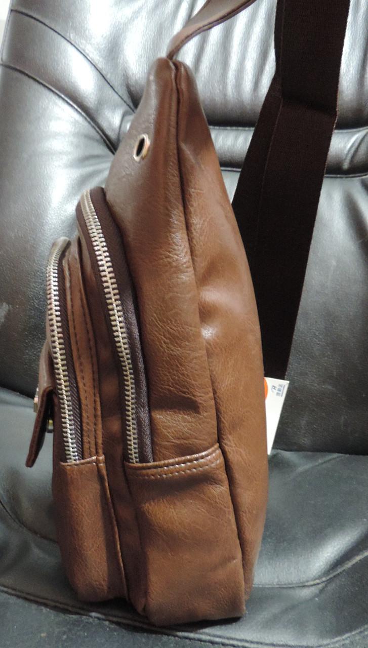 6949dd6fafdc Сумка слинг бананка. Мужская сумка - городской рюкзак. Кожаная сумка ...