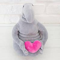 Мягкая игрушка Влюбленный Ждун с сердцем 21 см., фото 1