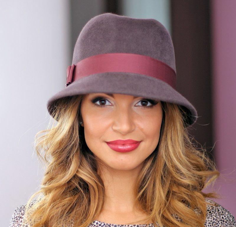 260- 1 Женская фетровая шляпа Хелен Лайн