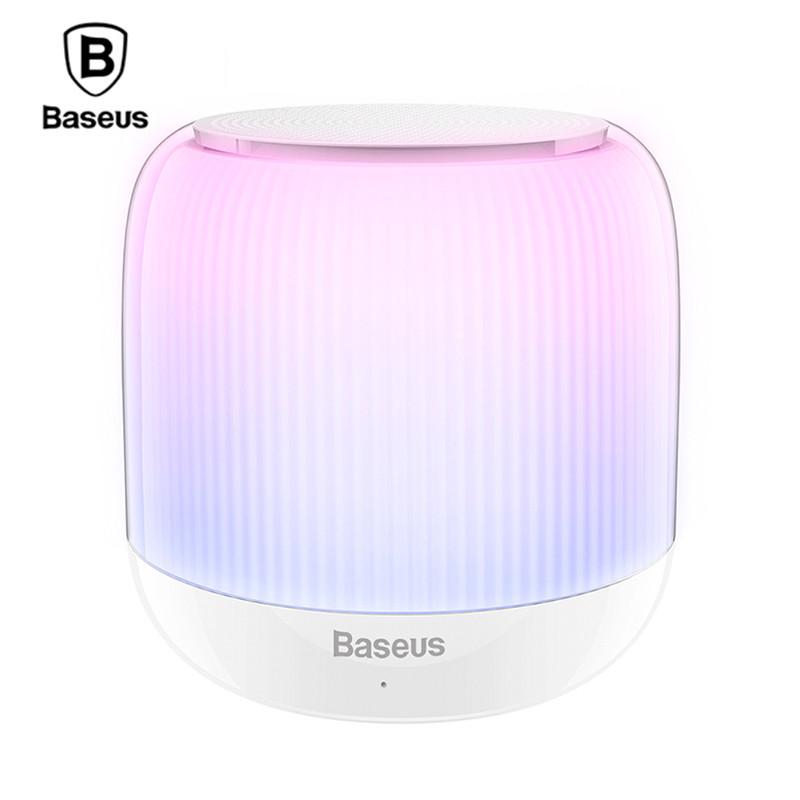 Неоновая Bluetooth колонка Baseus Encok E01 (Белая)