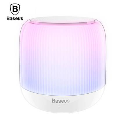Неоновая Bluetooth колонка Baseus Encok E01 (Белая), фото 2