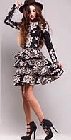 Платье с воланами на юбке и спущенными плечами BlackBerry Bella Bbb70551