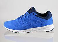 Мужские кроссовки Asics Onitsuka Tiger Shaw Runner Оригинал для бега тренировок синие Асикс