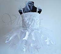 Костюм Снежинки белое пышное платье