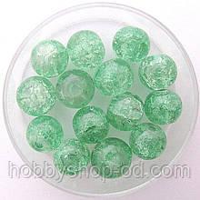 """Бусины """"Crackle"""" колотый лед 8 мм мятный (примерно 100-110 шт бусин)"""