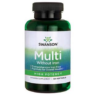 Swanson Витамины для спортсменов 120 желатиновых капсул Премиум