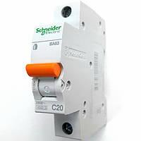 Автоматический выключатель ВА63 1полюс 20А  Schneider Electric серия Домовой