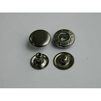 Кнопка АЛЬФА - 15 мм  блэк никель
