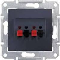 Аудио розетка (черный) графит Sedna(Седна) Schneider electric (Шнайдер электрик)