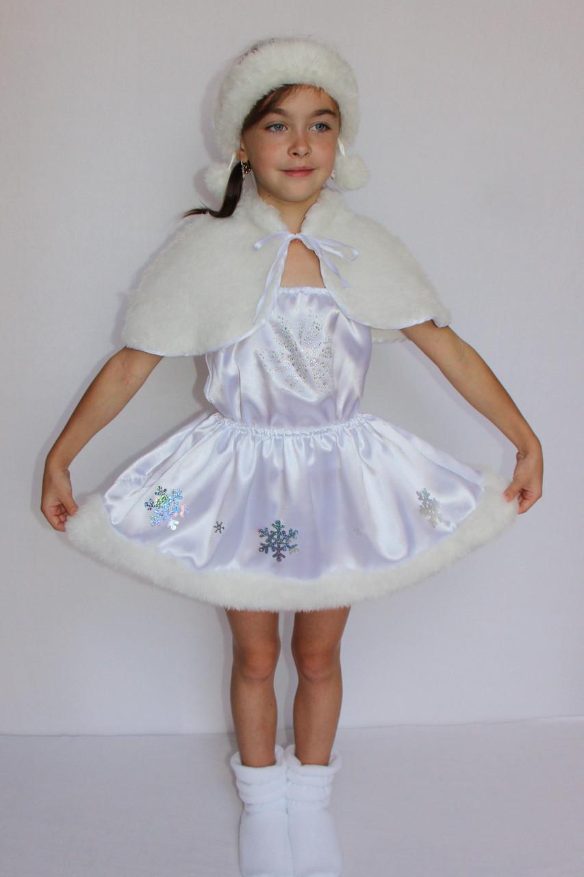 Костюм маскарадный для девочки Снежинка 3-6 лет