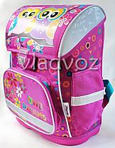 Школьный каркасный рюкзак для девочек ортопедическая спинка Сова сиреневый, фото 2