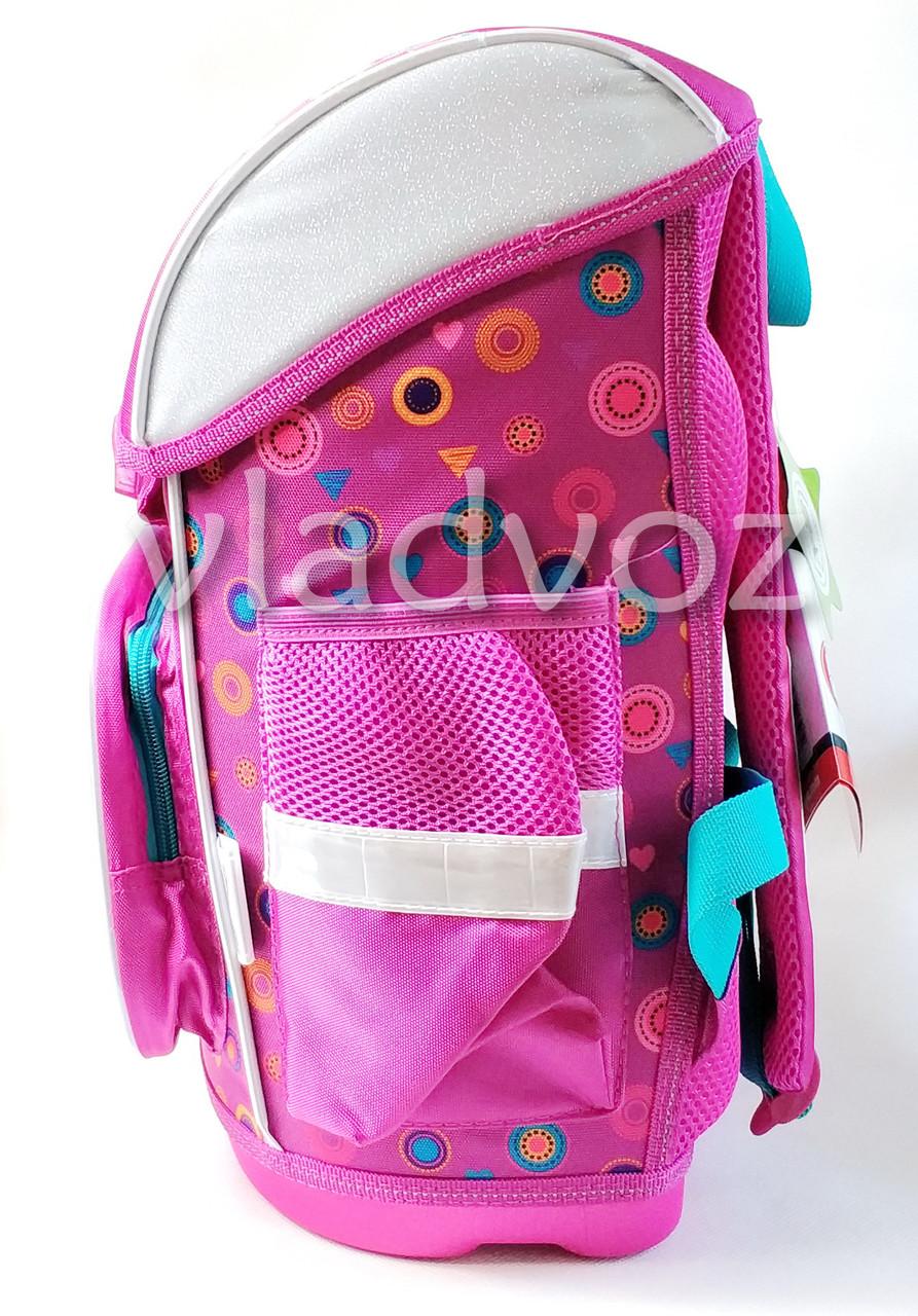 Школьный рюкзак сова сиреневый вид с боку