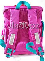 Школьный каркасный рюкзак для девочек ортопедическая спинка Сова сиреневый, фото 3