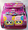 Школьный каркасный рюкзак для девочек ортопедическая спинка Сова сиреневый, фото 5