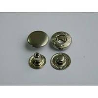 Кнопка АЛЬФА - 15 мм  никель