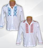 Рубашка-вышиванка для мальчика. Вышиванка с длинным рукавом для мальчика.  Трикотажная вышиванка для 39a54b2221ef1