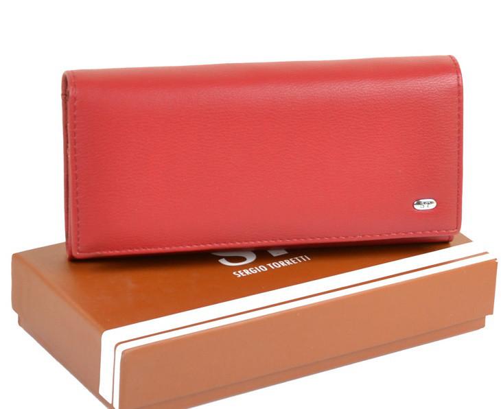 b21cc9739254 Женский кошелек SERGIO TORRETTI W1-V red дешево кошельки женские кожзам  оптом и в розницу