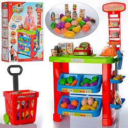 Большой Игровой набор 661-80, Мой Магазин прилавок, кассовый аппарат, сканер, продукты, весы .